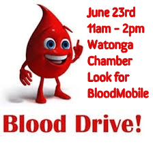 Blood Drive Watonga Chamber of Commerce