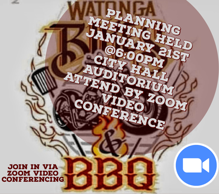 Watonga 2021 Bikes & BBQ Planning Meeting January 21st