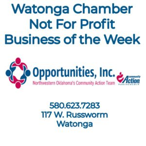 Watonga Chamber Non Profit Business of the Week