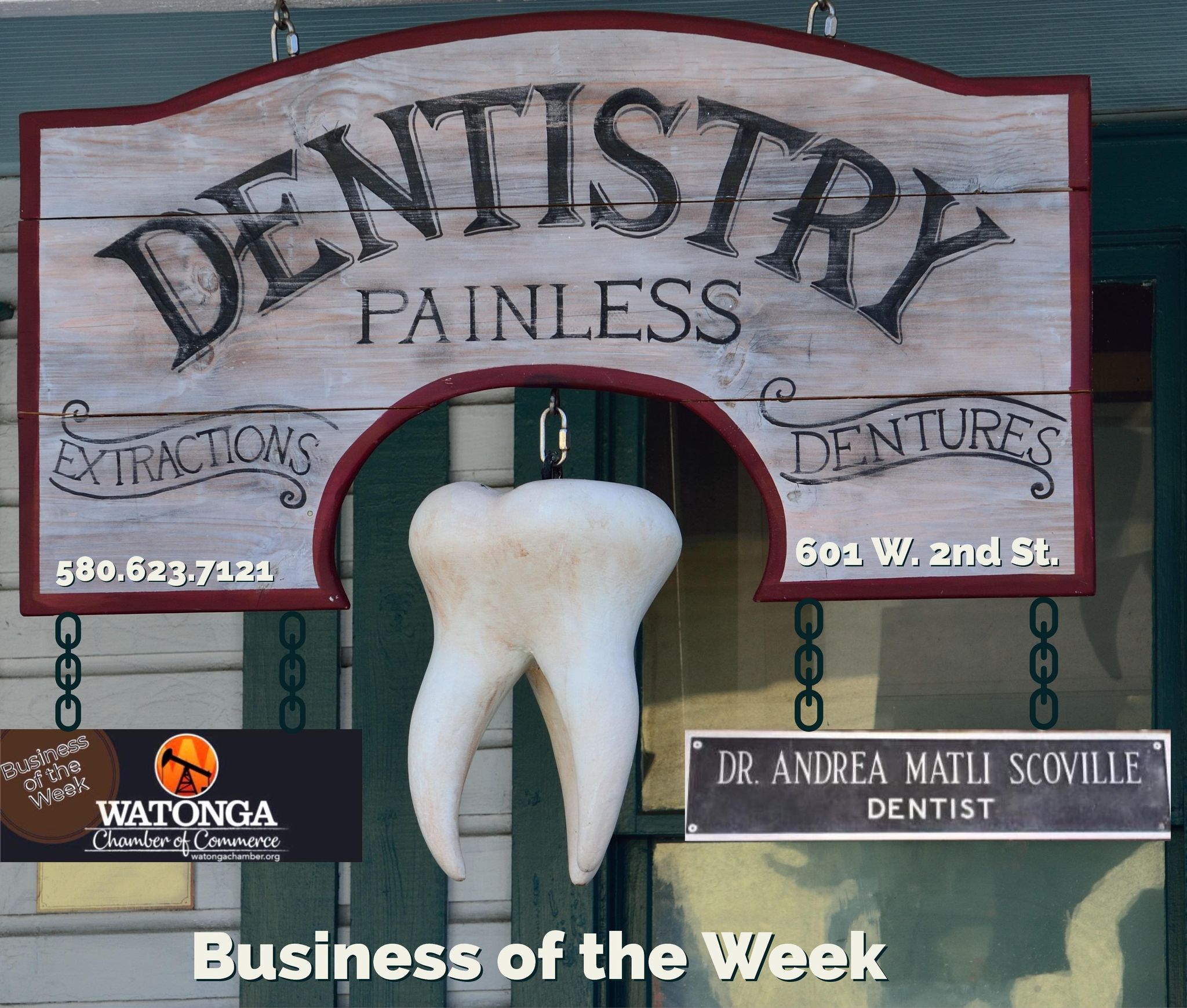 Read more about the article Watonga Chamber Business of the Week-Dr. Andrea Scoville, DDS