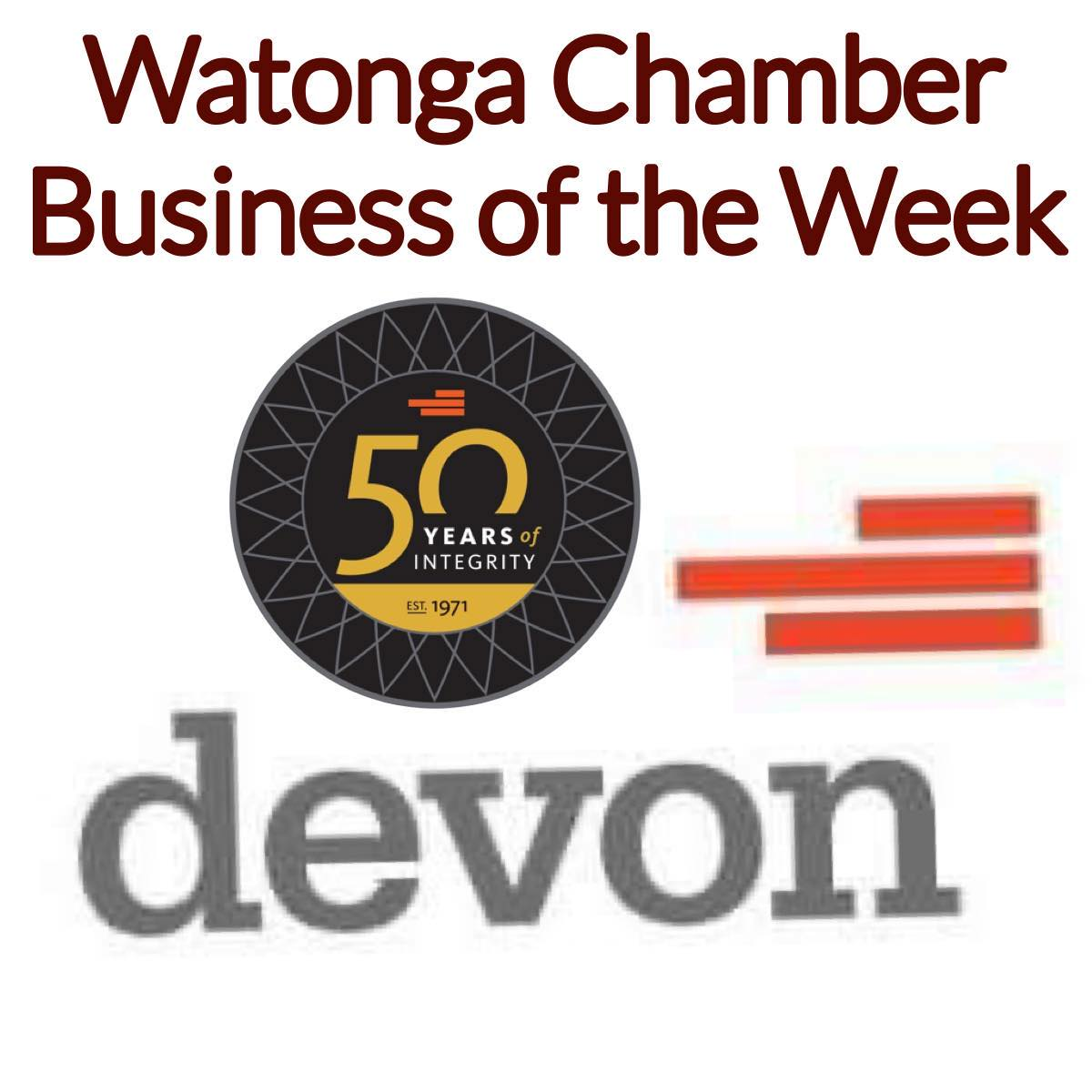 Read more about the article Watonga Chamber Business of the Week Devon Energy